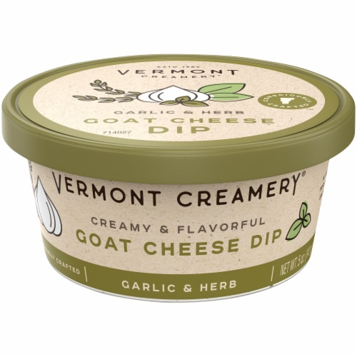 Vermont Creamery Garlic & Herb Goat Cheese Dip Perspective: front