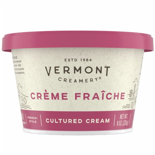 Vermont Creamery Creme Fraiche French-Style Cultured Cream Perspective: front