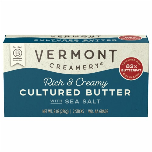 Vermont Creamery Sea Salt Cultured Butter Perspective: front