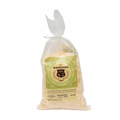 Sartori Asiago Shredded Cheese Perspective: front