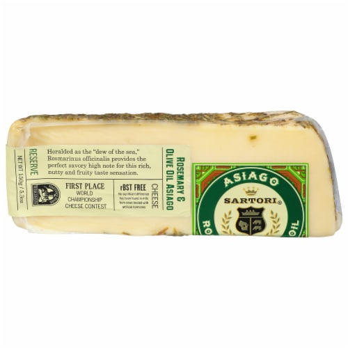 Sartori Rosemary Asiago Wedge Cheese Perspective: front