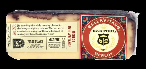 Sartori BellaVitano Merlot Cheese Perspective: front