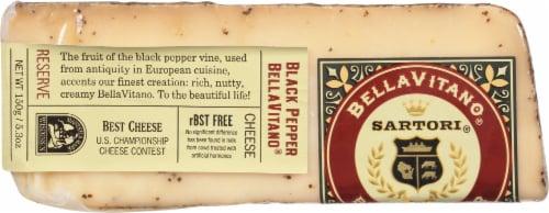 Sartori BellaVitano Black Pepper Cheese Perspective: front