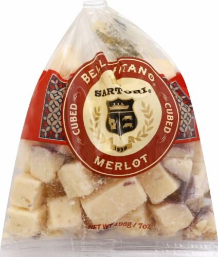 Sartori Merlot BellaVitano Cheese Cubes Perspective: front