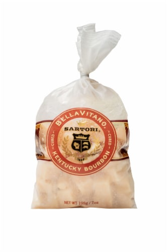Sartori Kentucky Bourbon BellaVitano Cubed Cheese Perspective: front