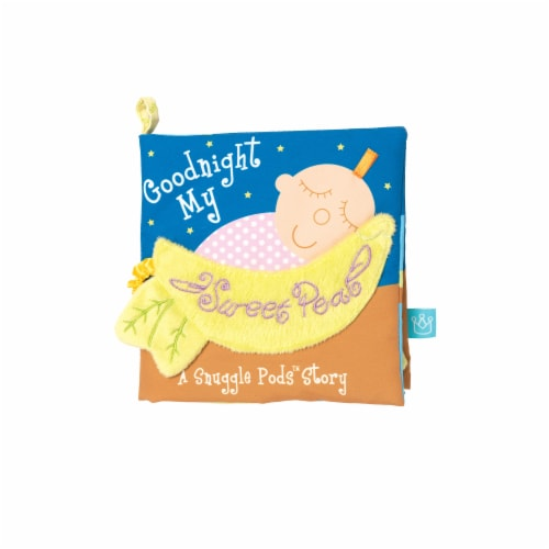 Manhattan Toy Snuggle Pods Goodnight My Sweet Pea Soft Baby Activity Book Perspective: front