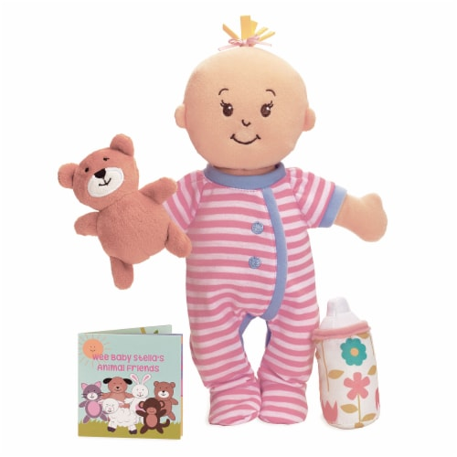 """Manhattan Toy Wee Baby Stella Sleepy Time Scents 12"""" Soft Baby Doll Set Perspective: front"""