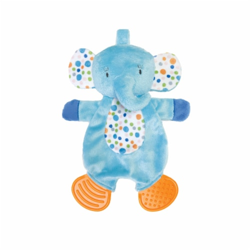 Manhattan Toy Teether Elephant Snuggle Blankie Toy Perspective: front
