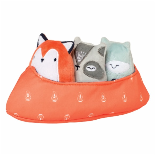 Manhattan Toy Camp Acorn Canoe Buddies Soft Baby Toy Perspective: front