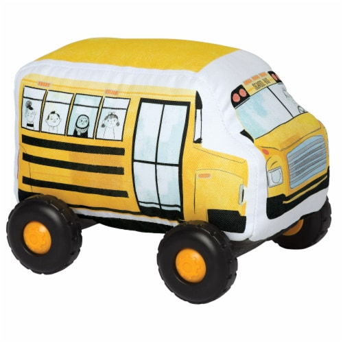 Manhattan Toy Bumpers School Bus Toy Vehicle for Toddlers Perspective: front