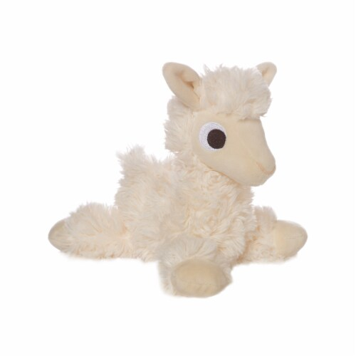 """Manhattan Toy Floppies 7"""" Baby Llama Plush Toy Perspective: front"""