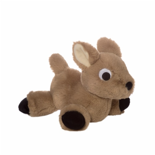 """Manhattan Toy Floppies 7"""" Baby Fawn Plush Toy Perspective: front"""