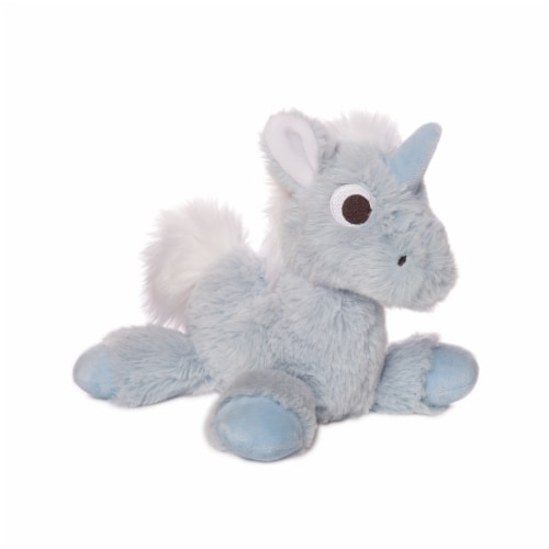 """Manhattan Toy Floppies 7"""" Baby Unicorn Plush Toy Perspective: front"""