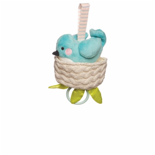 Manhattan Toy Lullaby Bird Pull Musical Crib and Baby Toy Perspective: front