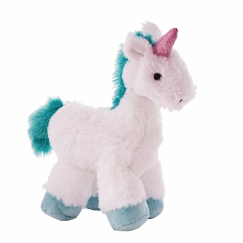 "Manhattan Toy Little Voyagers Heartfelt Unicorn 9"" Plush Toy Perspective: front"