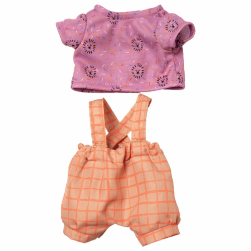 """Manhattan Toy Wee Baby Stella Take Me To the Zoo 12"""" Baby Doll Outfit Set Perspective: front"""