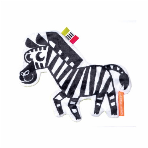 Manhattan Toy Wimmer-Ferguson Crinkle Zebra Baby Sensory Toy with Ribbon Tags Perspective: front
