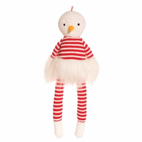"Manhattan Toy Luxe Twiggies Carl 16.5"" Chicken Stuffed Animal Perspective: front"