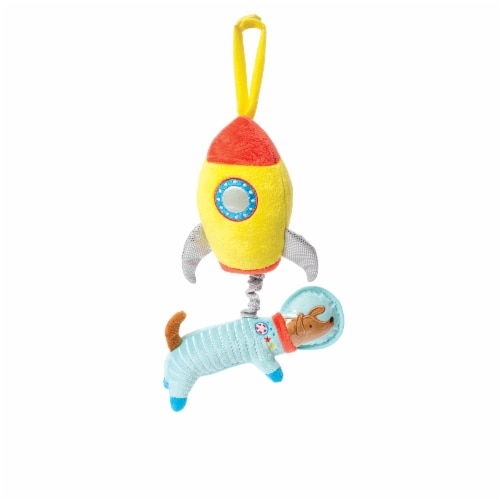 Manhattan Toy Cosmodog Crib and Baby Travel Accessory Rock-A-Bye Baby Pull Musical Toy Perspective: front