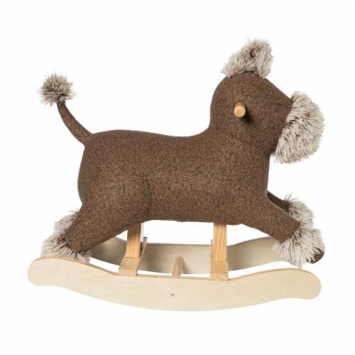 Manhattan Toy Terrier Plush Dog Wooden Rocking Toy Perspective: front