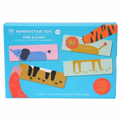 Manhattan Toy Paws & Claws 20 Piece Mix and Match Animals Playset and Toddler Memory Game Perspective: front