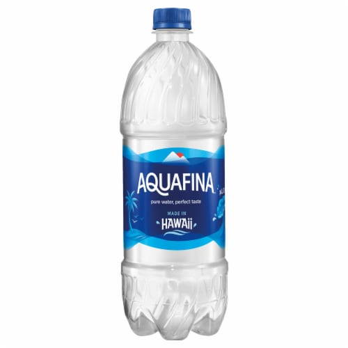 Aquafina Purified Bottled Water Bottle Perspective: front