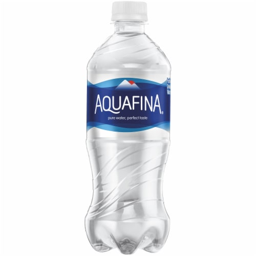Aquafina Purified Bottled Water Bottle Perspective: front