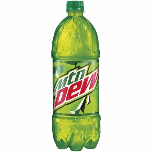 Mountain Dew Citrus Soda 1 Liter Bottle Perspective: front