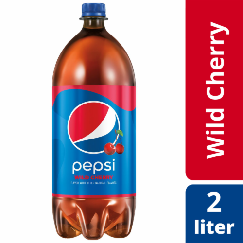 Pepsi Cola Wild Cherry Soda Bottle Perspective: front