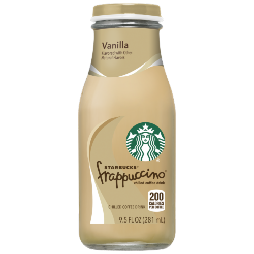 Starbucks Frappuccino Vanilla Iced Coffee Drink Perspective: front