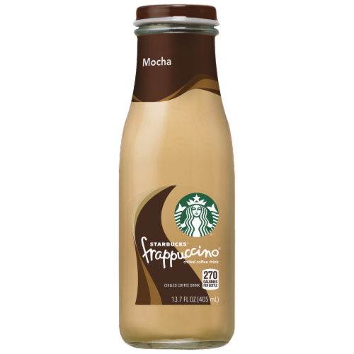 Starbucks Frappuccino Mocha Iced Coffee Drink Bottle Perspective: front