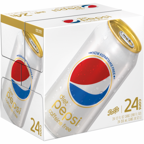 Diet Pepsi Caffeine Free Soda Perspective: front