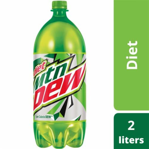Mountain Dew Diet Soda Perspective: front