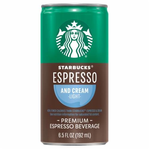 Starbucks Doubleshot Energy Drink Espresso & Cream Light Premium Espresso Iced Coffee Perspective: front