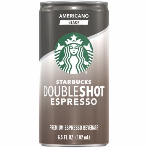 Starbucks Doubleshot Energy Drink Americano Black Premium Espresso Iced Coffee Perspective: front