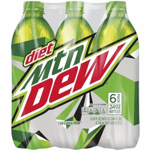 Diet Mountain Dew Soda Perspective: front