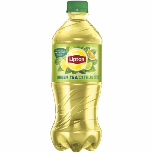 Lipton Iced Green Tea with Citrus Drink Perspective: front