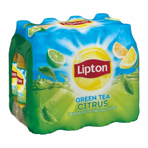 Lipton Iced Green Tea with Citrus Perspective: front