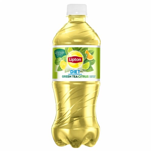 Lipton Diet Iced Green Tea with Citrus Bottle Perspective: front