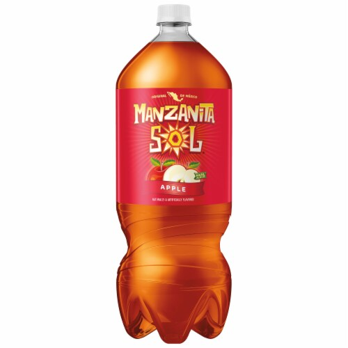 Manzanita Sol Apple Soda Bottle Perspective: front