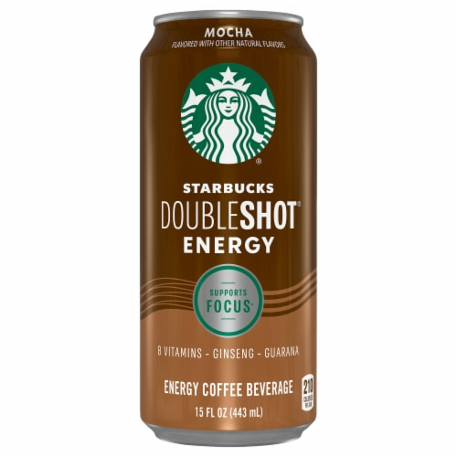 Starbucks Doubleshot Energy Mocha Energy Coffee Beverage Perspective: front