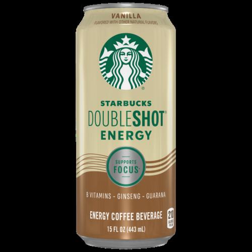 Starbucks Doubleshot Energy Vanilla Energy Coffee Beverage Perspective: front