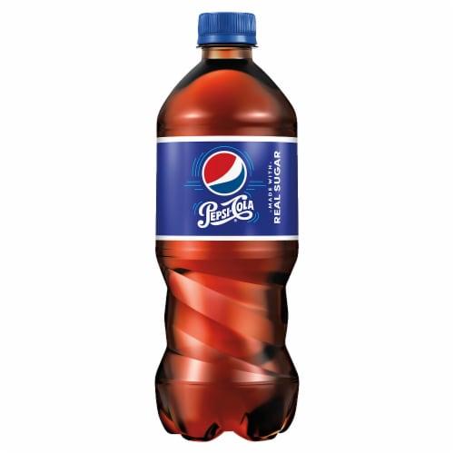 Pepsi Cola Real Sugar Soda Perspective: front