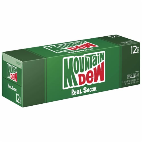 Mountain Dew Throwback Soda 12 Pack Perspective: front