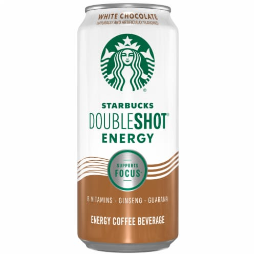 Starbucks Doubleshot Energy Drink White Chocolate Iced Coffee Perspective: front