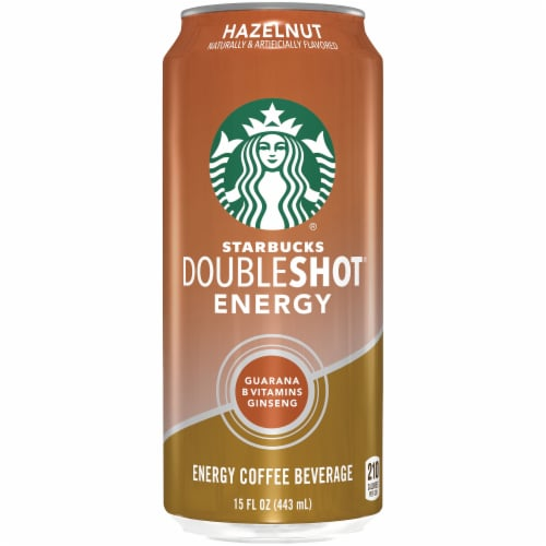 Starbucks Doubleshot Energy Drink Hazelnut Iced Coffee Perspective: front