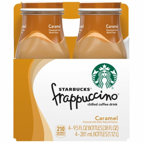 Starbucks Frappuccino Caramel Iced Coffee Drink Perspective: front