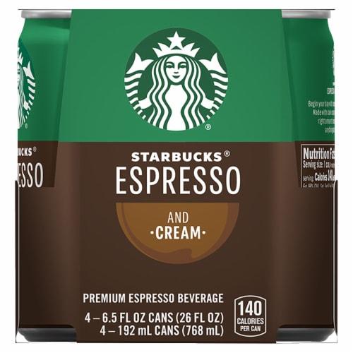 Starbucks DoubleShot Espresso & Cream Premium Espresso Beverage Perspective: front