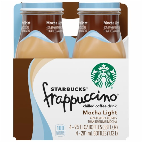 Starbucks Frappuccino Mocha Light Iced Coffee Drink Perspective: front