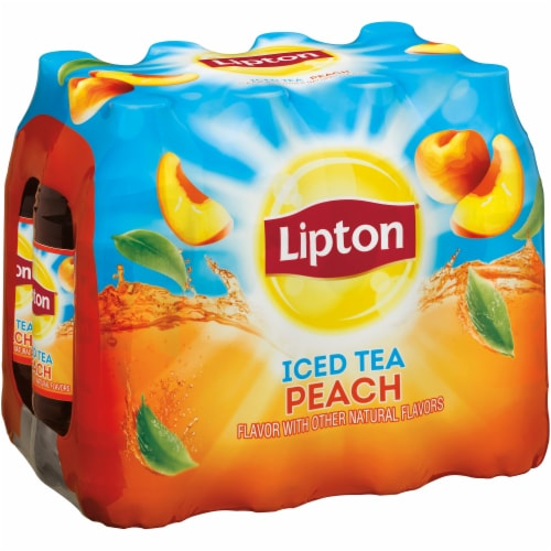 Lipton Peach Iced Tea Perspective: front